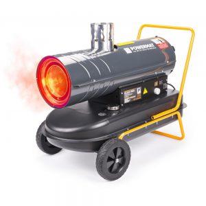 Dyzelinis šildytuvas Powermat su kaminu 30KW
